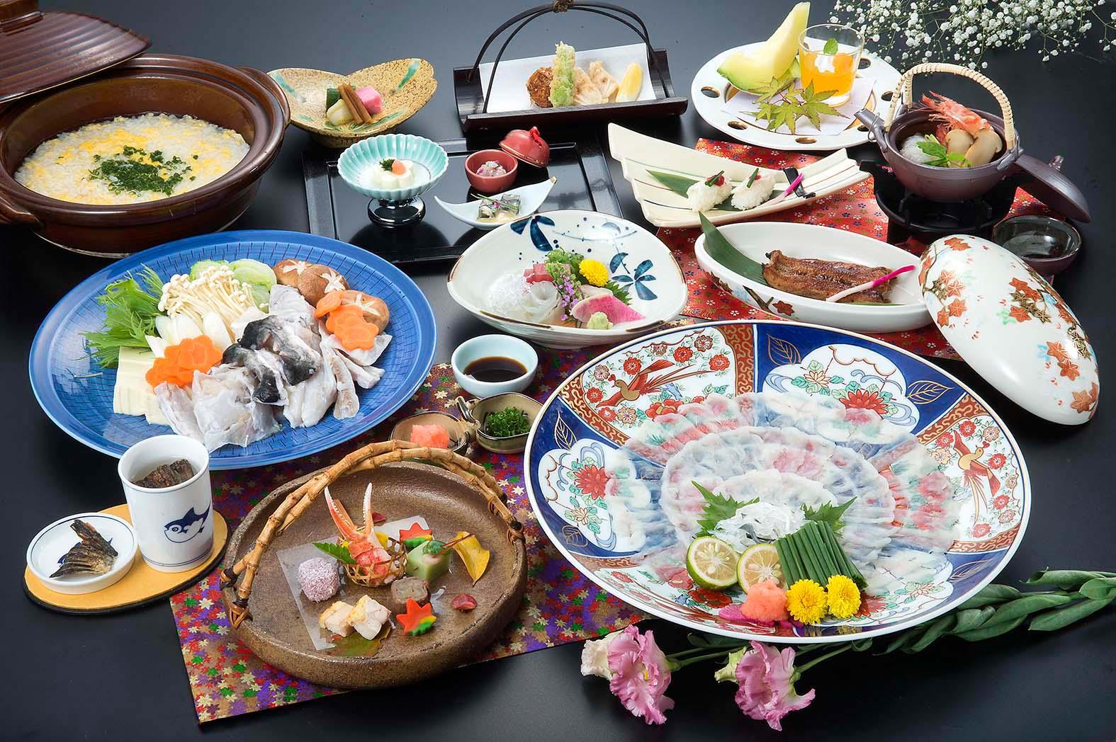 【福会席】遠州灘産天然とらふぐ料理8品贅沢に味わう至福の時間♪
